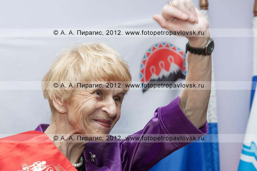 Фотография: Селянгина Светлана на церемонии посвящения в почетные граждане города Петропавловска-Камчатского
