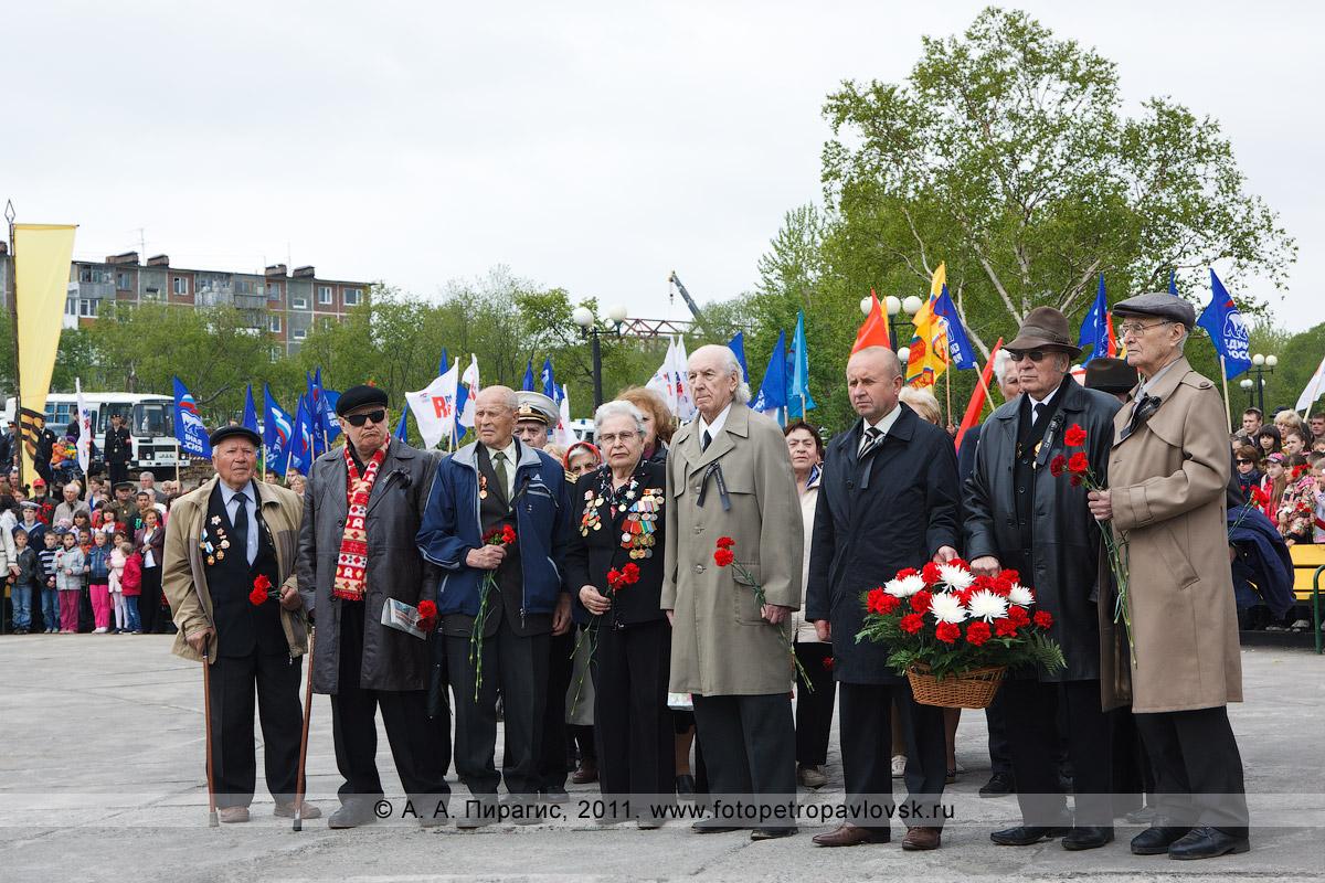Фотография: ветераны Великой Отечественной войны. День памяти и скорби, 22 июня. Митинг в парке Победы города Петропавловска-Камчатского