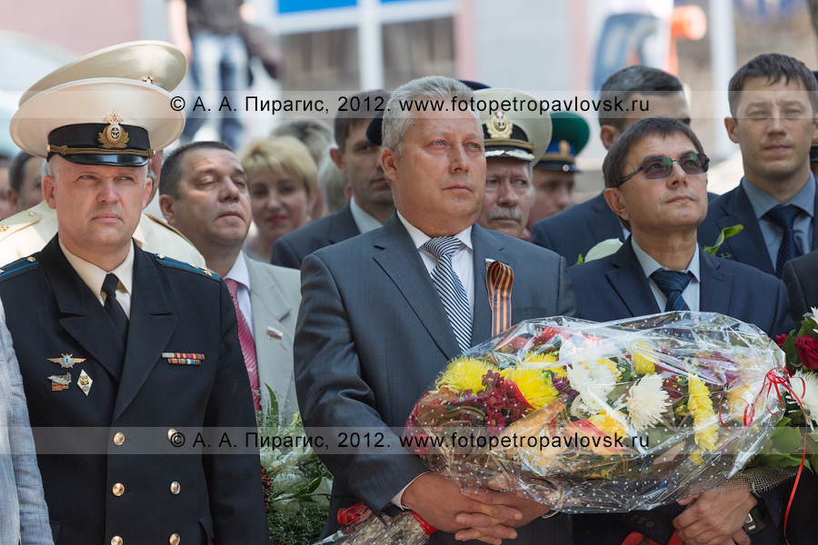 В центре фотографии: Раенко Валерий — председатель Законодательного собрания Камчатского края