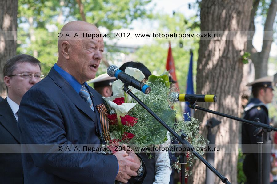 Фотография: митинг 22 июня, в День памяти и скорби. У микрофона — Семчев Владимир — глава Петропавловск-Камчатского городского округа