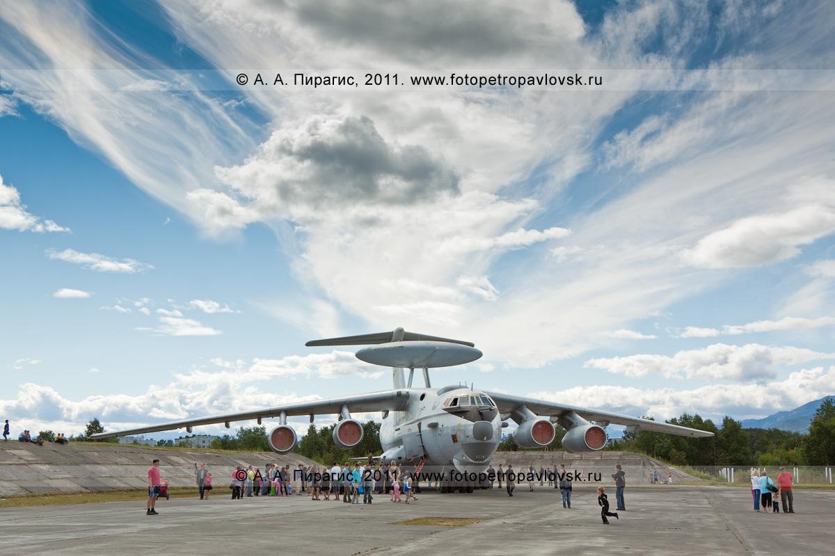 Фотография: А-50 — самолет дальнего радиолокационного обнаружения и управления (ДРЛОиУ). Камчатка, Елизово, военный аэродром