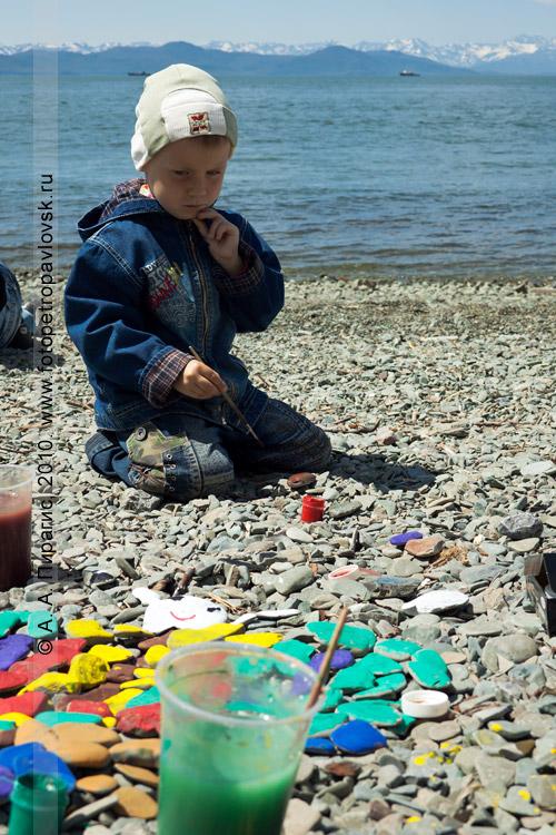 """Фотография: """"Арт-Пляж"""". Берег Авачинской губы (бухты) в Петропавловске-Камчатском"""