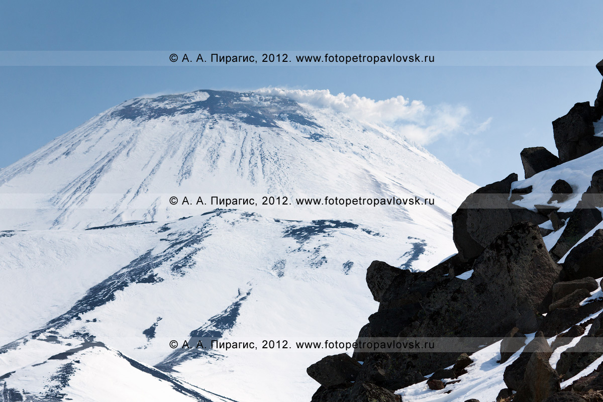 Фотография: вид на Авачинский вулкан с горы Верблюд (Камчатка, Авачинский перевал)