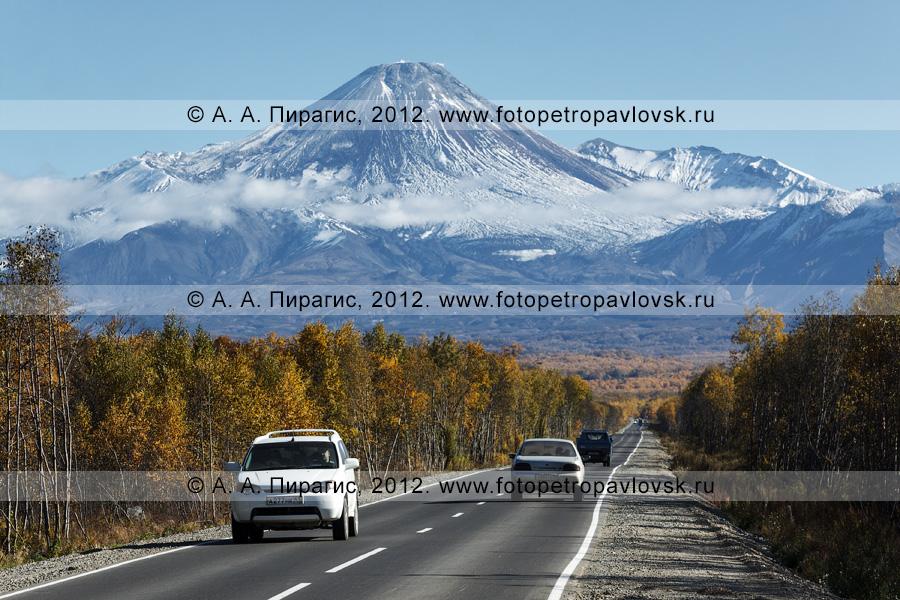 Фотография: автомобильная дорога на Авачинский вулкан (Авачинская сопка). Камчатский край, Елизовский район
