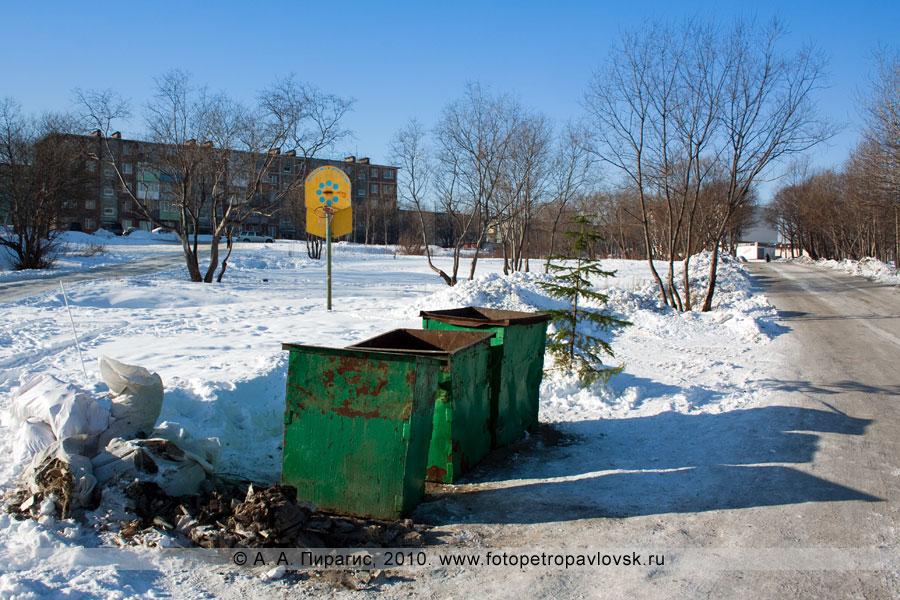 Фотография: баскетбольная площадка в городе Петропавловске-Камчатском