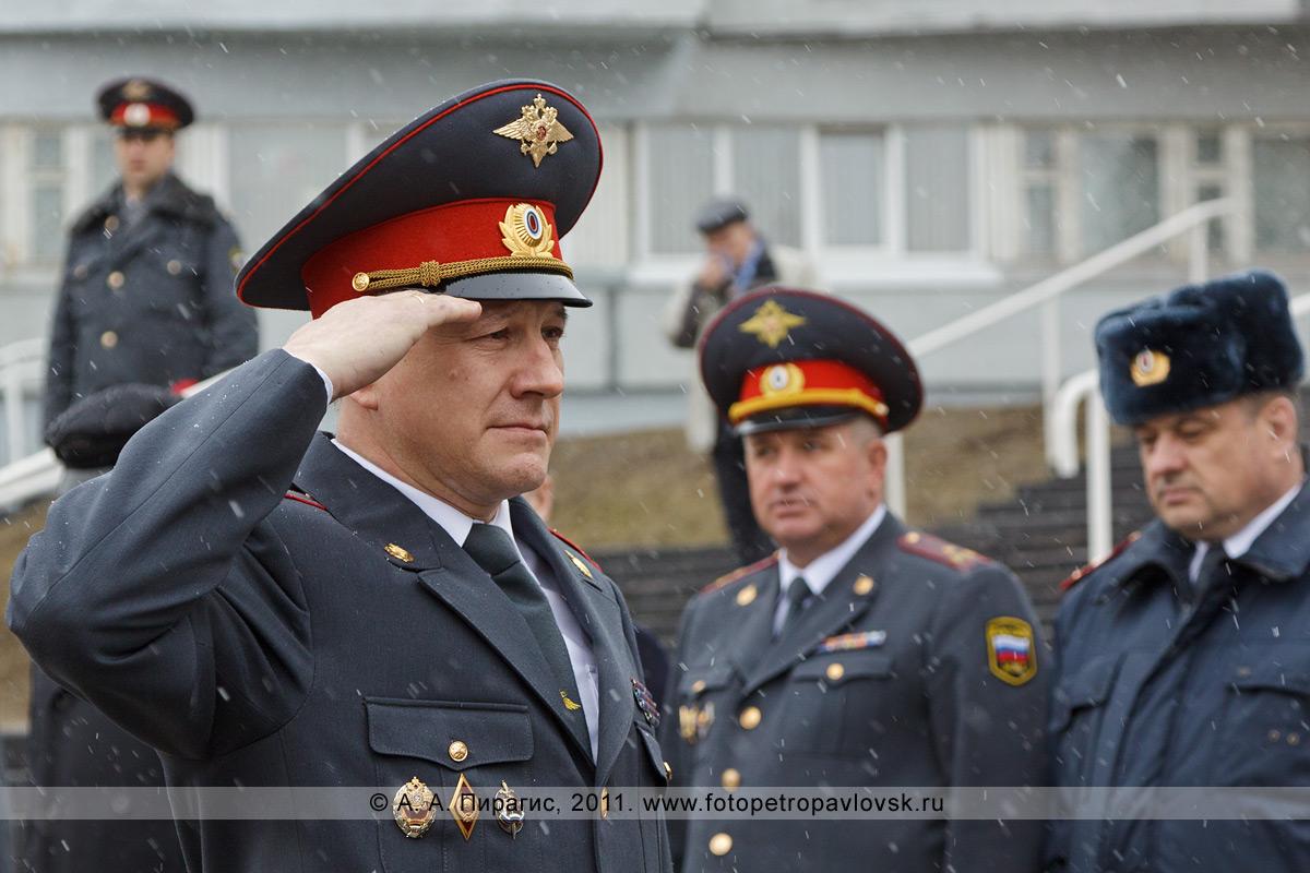 Фотография: Сидоренко Александр Иванович, начальник Управления внутренних дел по Камчатскому краю. День камчатской милиции