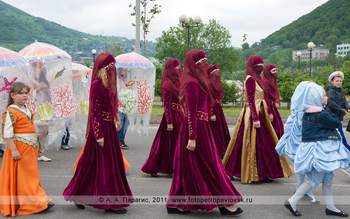Фотография: театрализованное костюмированное шествие в городе Петропавловске-Камчатском в День рыбака