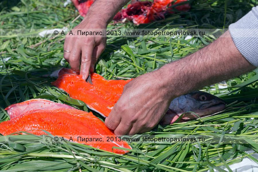 Фотография: корякский обрядовый праздник День первой рыбы на Камчатке. Празднование в городе Петропавловске-Камчатском
