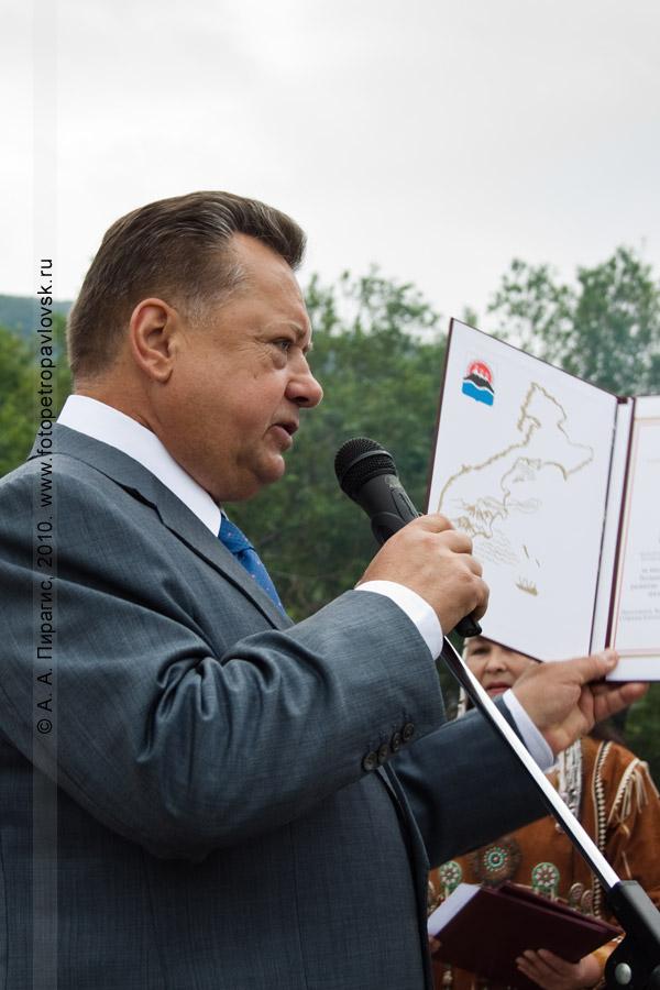 Фотография: председатель Законодательного собрания Камчатского края Борис Невзоров. День аборигена в Петропавловске-Камчатском