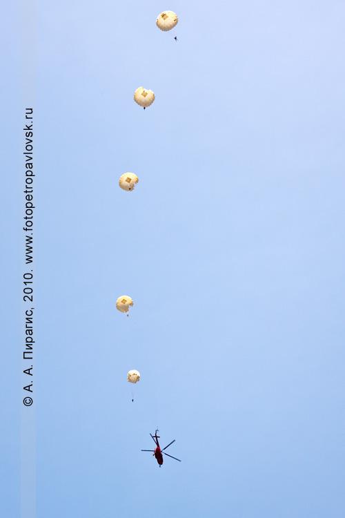 Фотография: День Военно-воздушных сил Росийской Федерации (День авиации) в Камчатском крае — воздушное шоу парашютистов