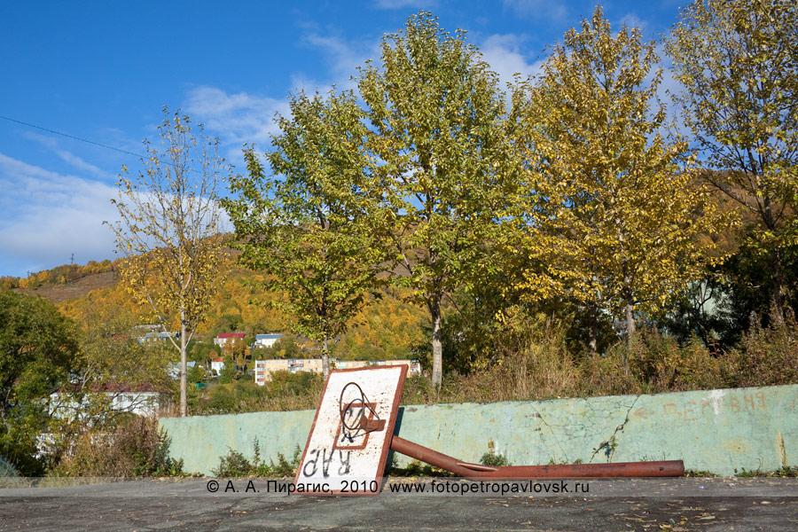 Фотография: баскетбольный щит на спортивной площадке перед детско-юношеской спортивной школой (ДЮСШ) № 5 единоборства