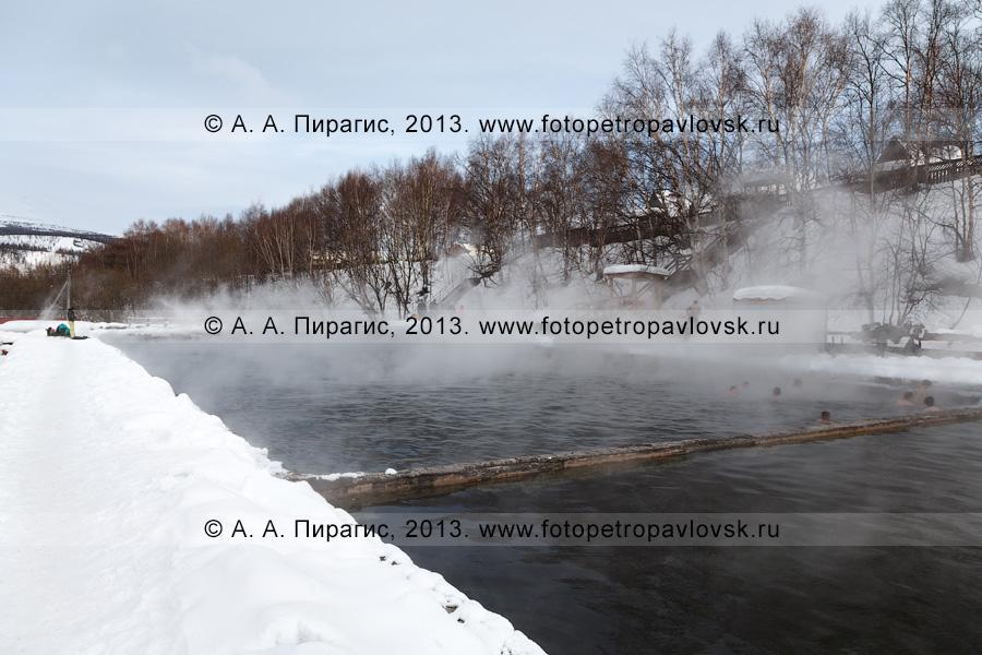 Фотография: бассейн с термальной водой в селе Эссо Быстринского района Камчатского края