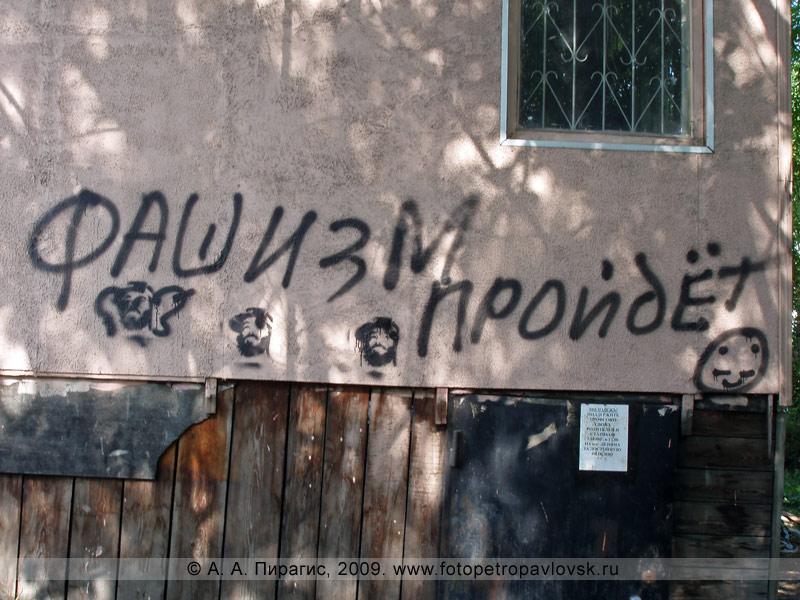 """Надпись: """"Фашизм пройдет"""" в Петропавловске-Камчатском"""