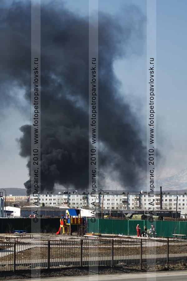 Фотография: пожар в городе Петропавловске-Камчатском