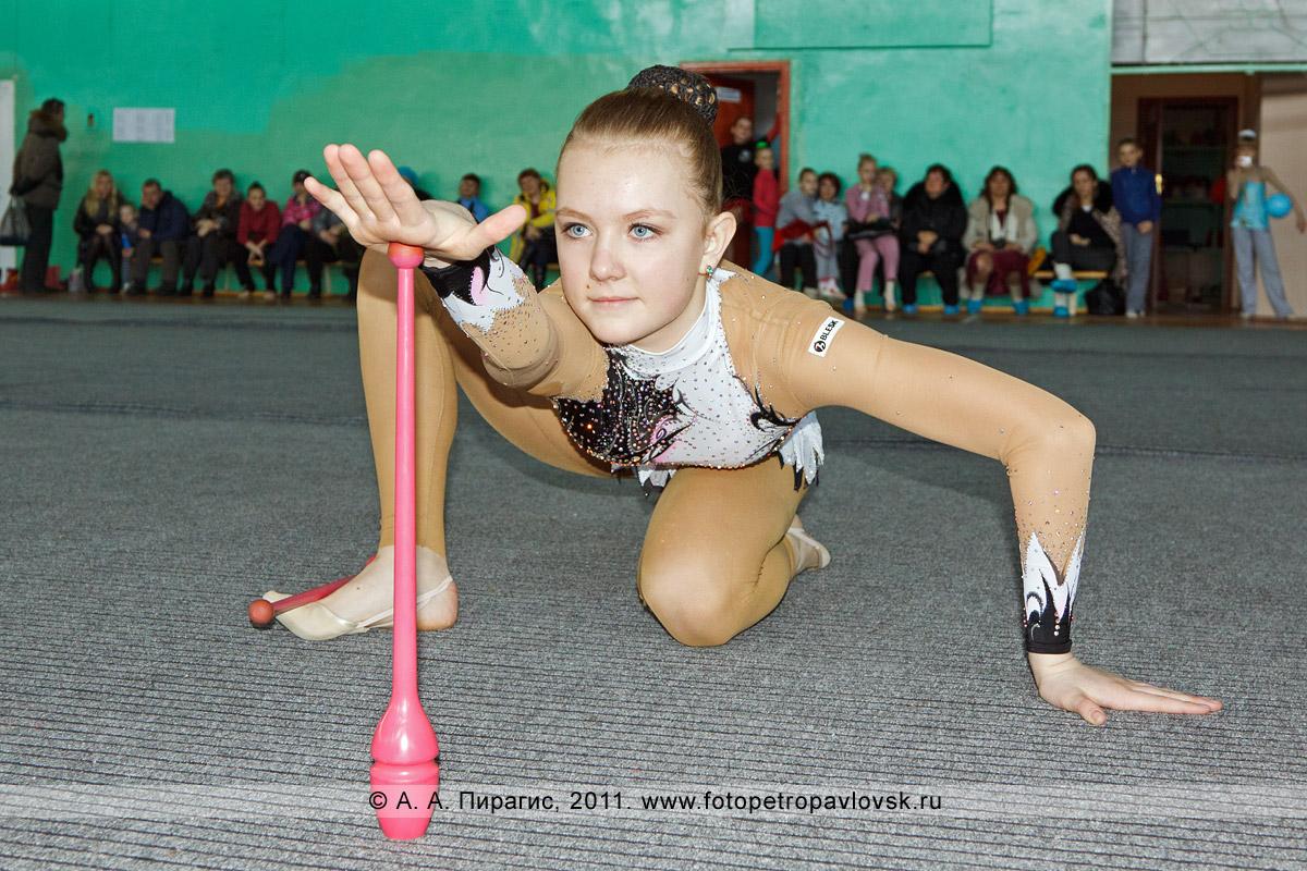 Фотография: Эпова Алина, 1-е место в соревнованиях по художественной гимнастике по программе МС (мастер спорта). Художественная гимнастика на Камчатке