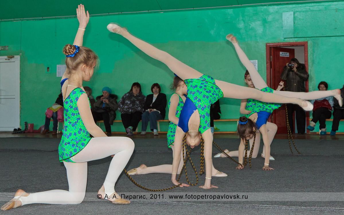 Фотография: групповые выступления со скакалкой, 1-й разряд, 4-е место в соревнованиях по художественной гимнастике. Художественная гимнастика на Камчатке