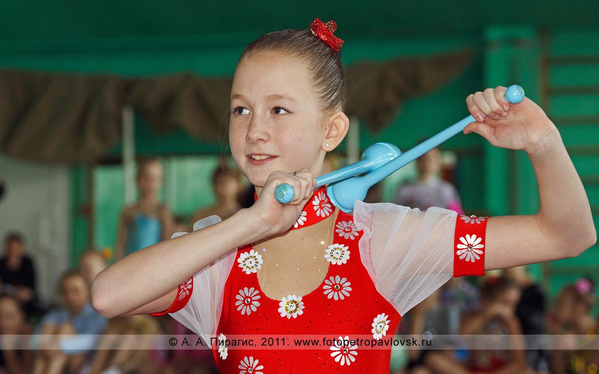 Фотография: Бурдуленко Анастасия, 3-е место в соревнованиях по художественной гимнастике по программе КМС (кандидат в мастера спорта). Художественная гимнастика на Камчатке