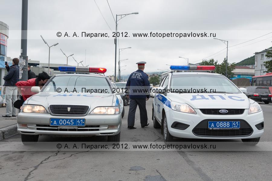 Фотография: автомобили дорожно-патрульной службы Государственной инспекции безопасности дорожного движения Камчатского края