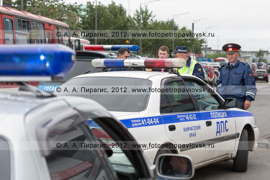 Фотография: автомобили ДПС ГИБДД Камчатского края