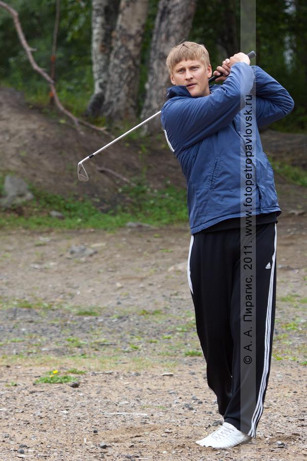 Фотография: камчатский гольфист Решетников Александр. Соревнования по гольфу в городе Петропавловске-Камчатском