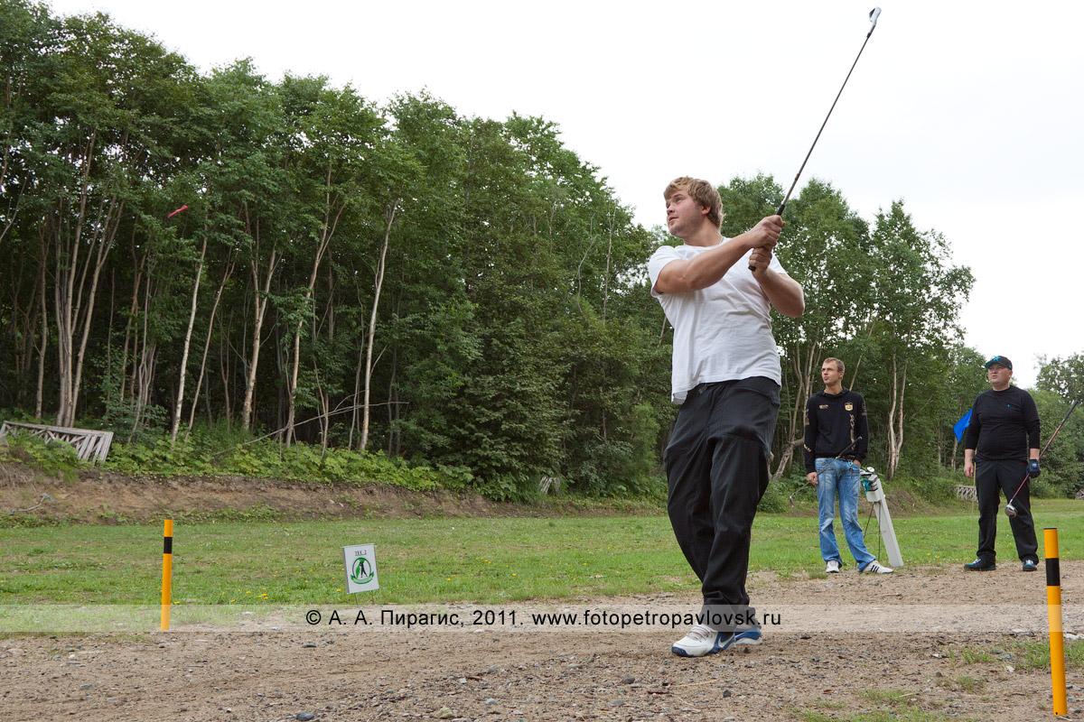 Фотография: игра в гольф на Камчатке. Открытый турнир Петропавловск-Камчатского городского округа по гольфу