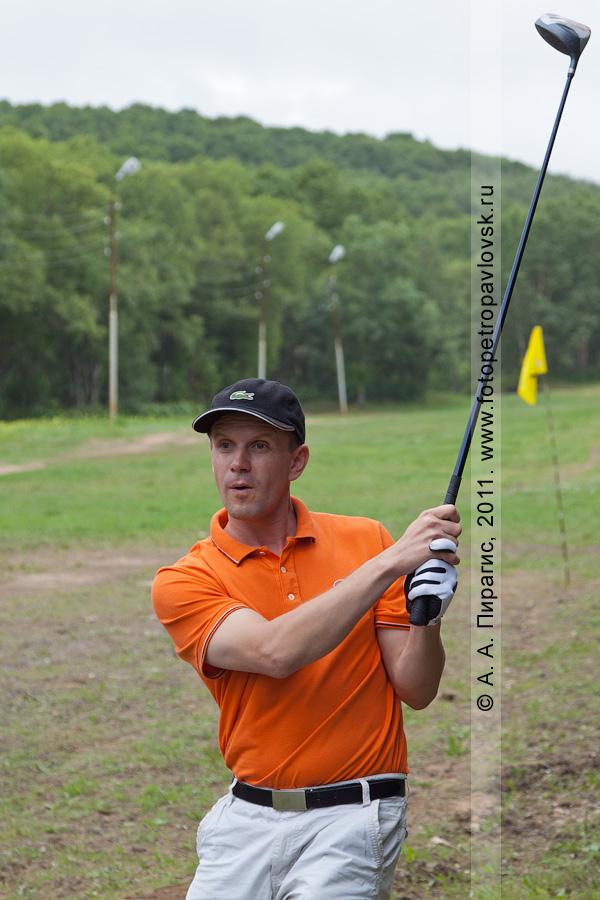 Фотография: камчатский спортсмен-гольфист. Открытый турнир Петропавловск-Камчатского городского округа по гольфу