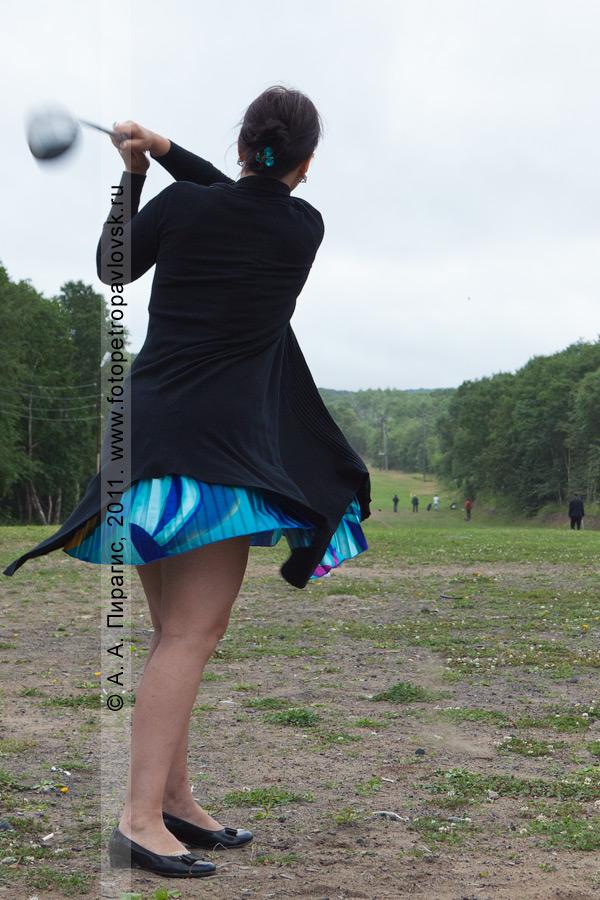 Фотография: камчатская гольфистка Пушкарева Любовь. Открытый турнир Петропавловск-Камчатского городского округа по гольфу