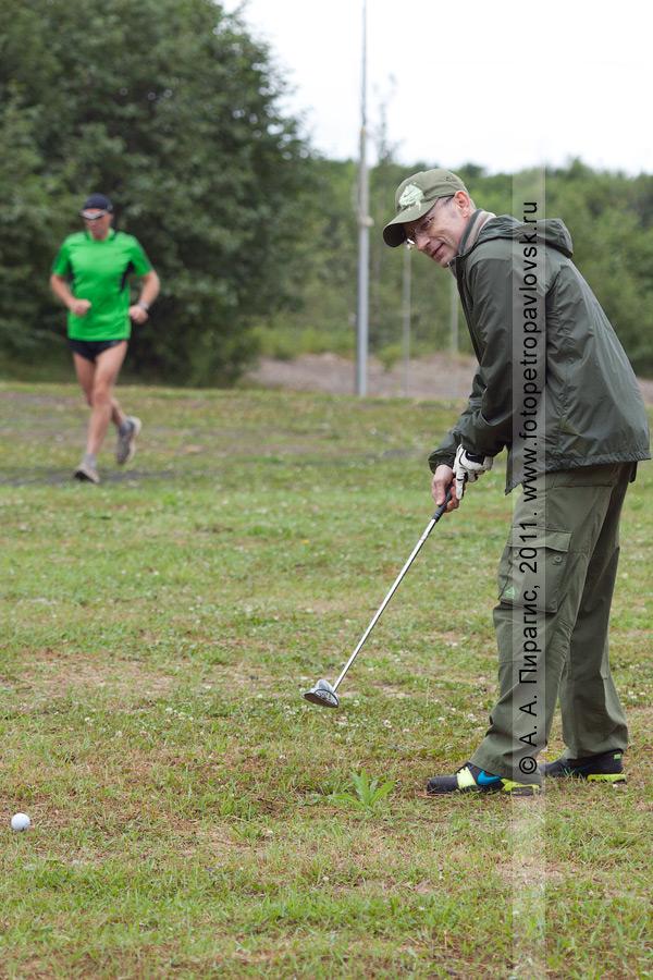 Фотография: камчатский спортсмен-гольфист Мезенцев Эдуард. Соревнования по гольфу в городе Петропавловске-Камчатском