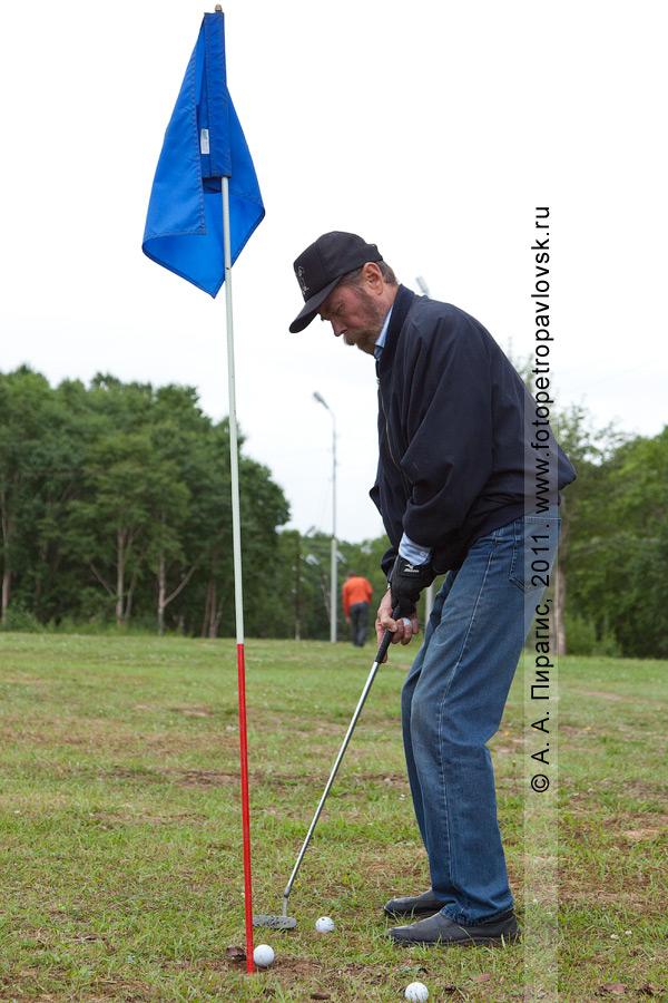 Фотография: камчатский гольфист Вакарин Александр. Соревнования по гольфу в городе Петропавловске-Камчатском