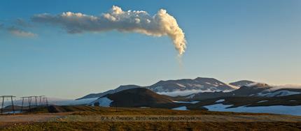 Вулкан Горелая Сопка на Камчатке