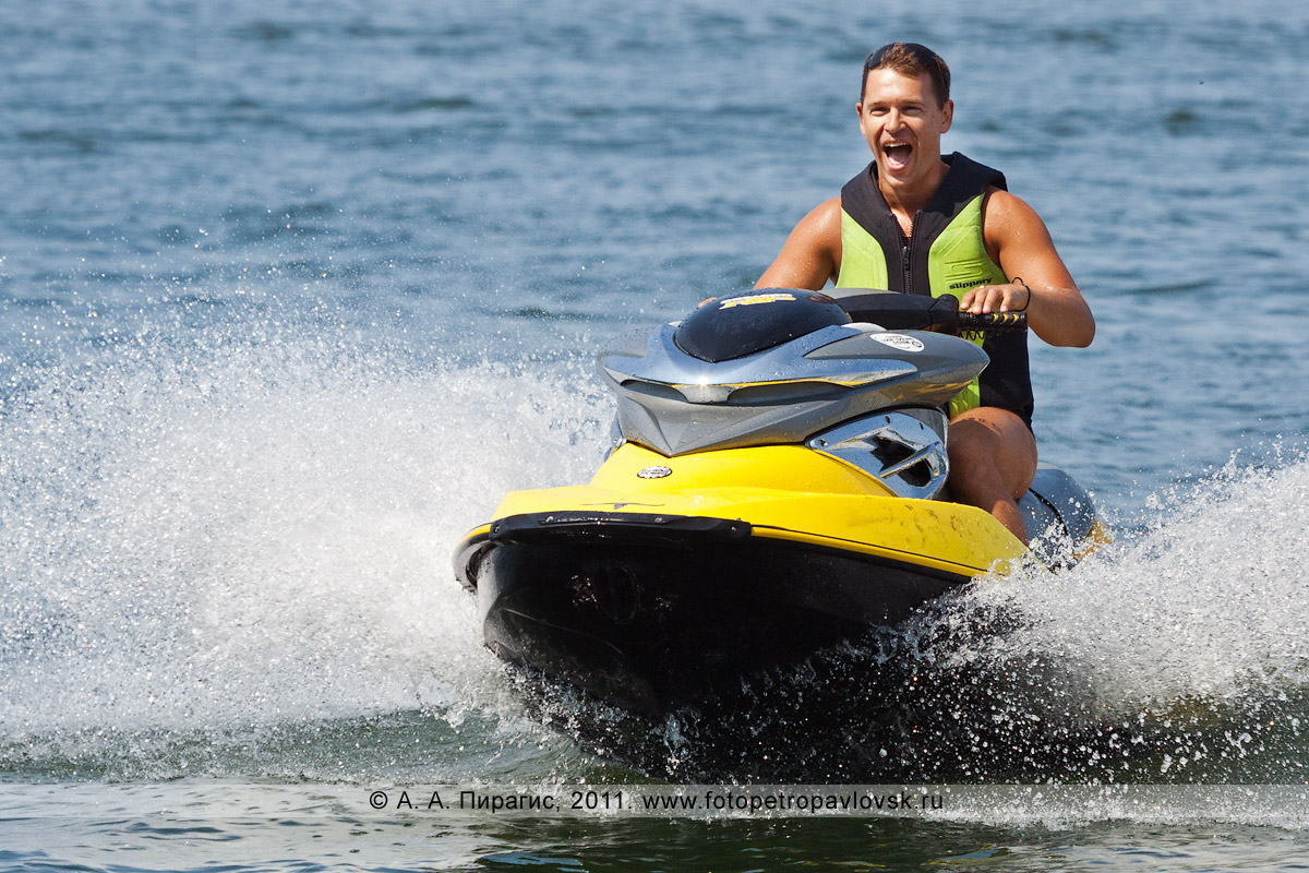Фотография: водный мотоцикл (гидроцикл). Катание по Авачинской губе (бухте) на Камчатке