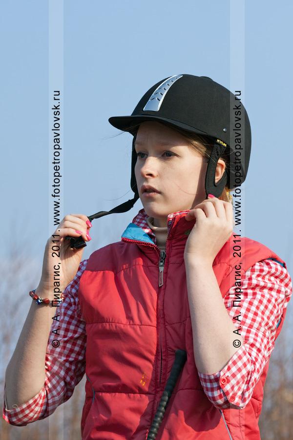 Фотография: камчатская всадница. Соревнования по конному спорту на Камчатке