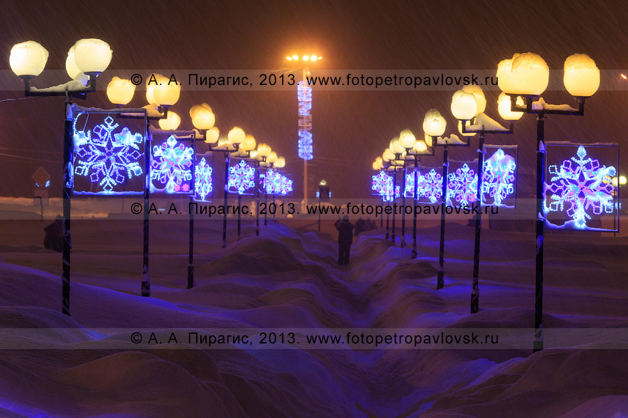 Фотография: праздничная новогодняя иллюминация. Петропавловск-Камчатский