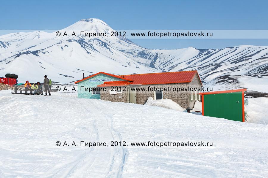 """Фотография: горный лагерь туристической компании """"Камчатинтур"""" под Авачинским вулканом. Полуостров Камчатка"""