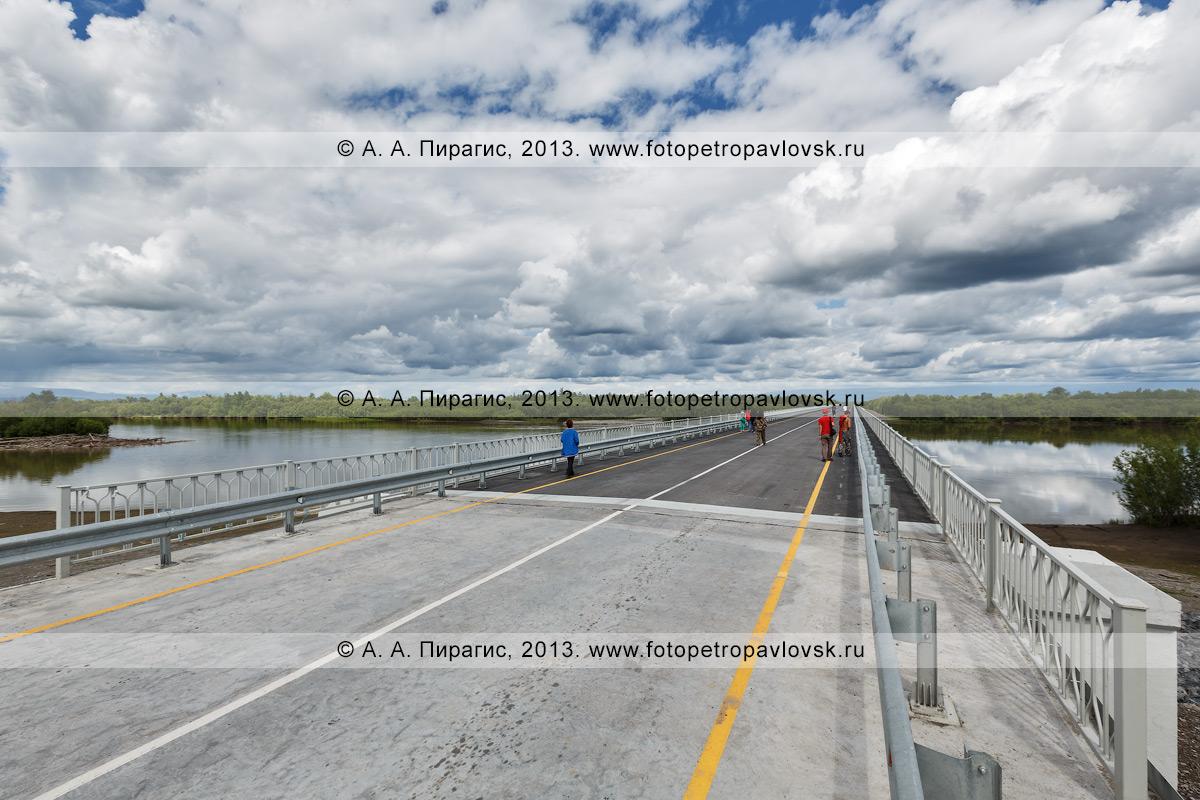 Фотография: мост через реку Камчатку на 168-м км автодороги Мильково — Ключи — Усть-Камчатск в Усть-Камчатском районе Камчатского края