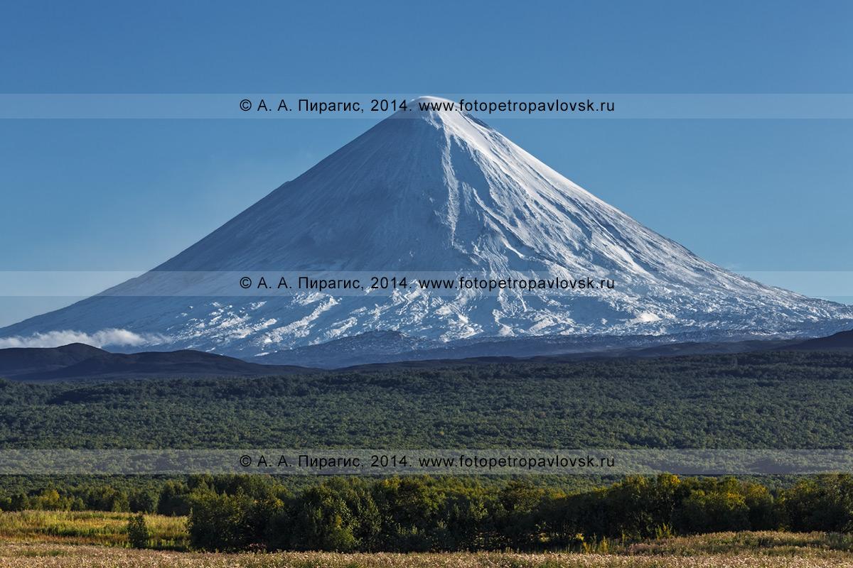 Фотография: Ключевской вулкан (Ключевская cопка) — действующий вулкан на полуострове Камчатка