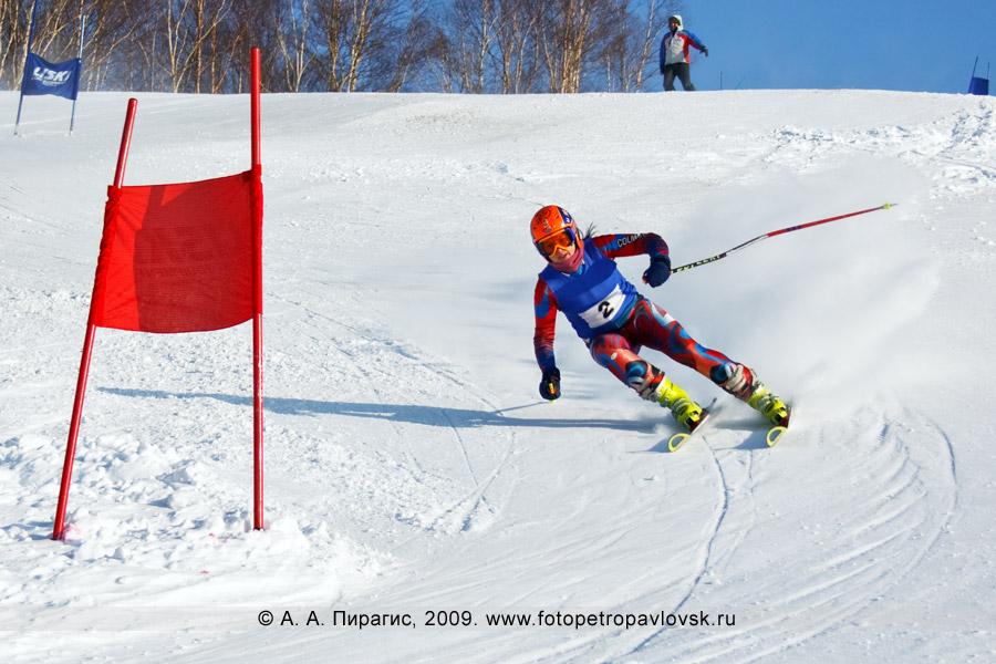 Фотография: Колосовская Евгения — 3-е место в чемпионате Камчатского края по слалому-гиганту (гигантский слалом)
