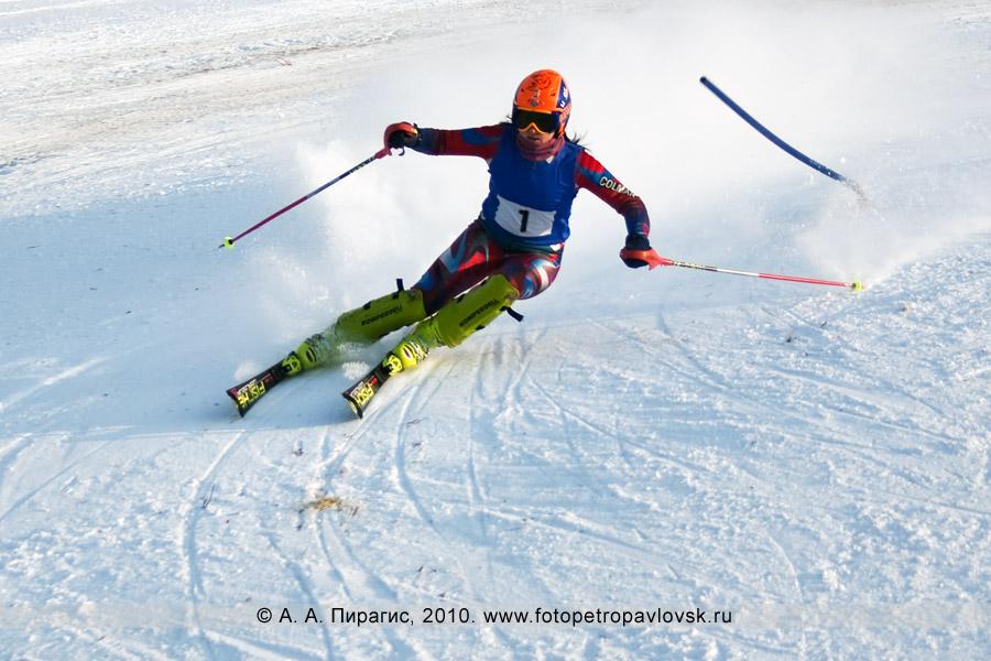Фотография: Колосовская Евгения — 2-е место в чемпионате Камчатского края по слалому