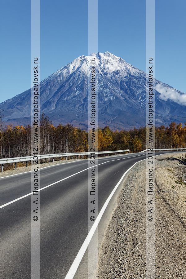 Фотография: автомобильная дорога на Корякский вулкан (Корякская сопка). Полуостров Камчатка