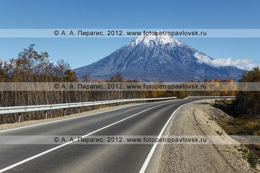 Фотография: автомобильная дорога на Корякский вулкан (Корякская сопка). Камчатский край, Елизовский район