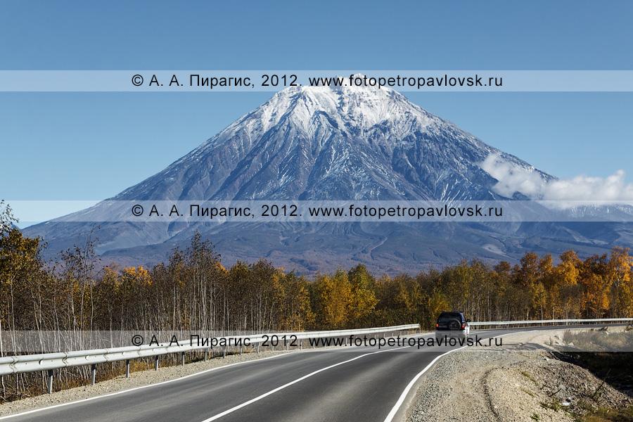 Фотография: автотрасса на Корякский вулкан (Корякская сопка). Елизовский район Камчатского края