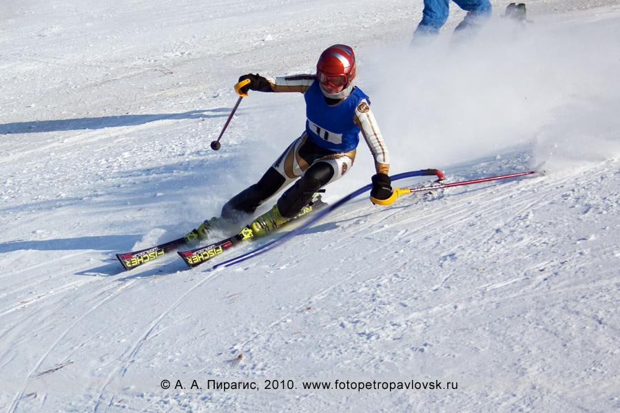 Фотография: Курданова Юлия — 3-е место в чемпионате Камчатского края по слалому