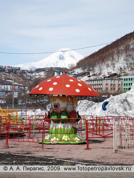 Фотография летнего городка в центре Петропавловска-Камчатского