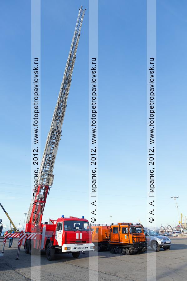 Фотография: смотр пожарно-спасательных и поисково-спасательных подразделений МЧС России по Камчатскому краю