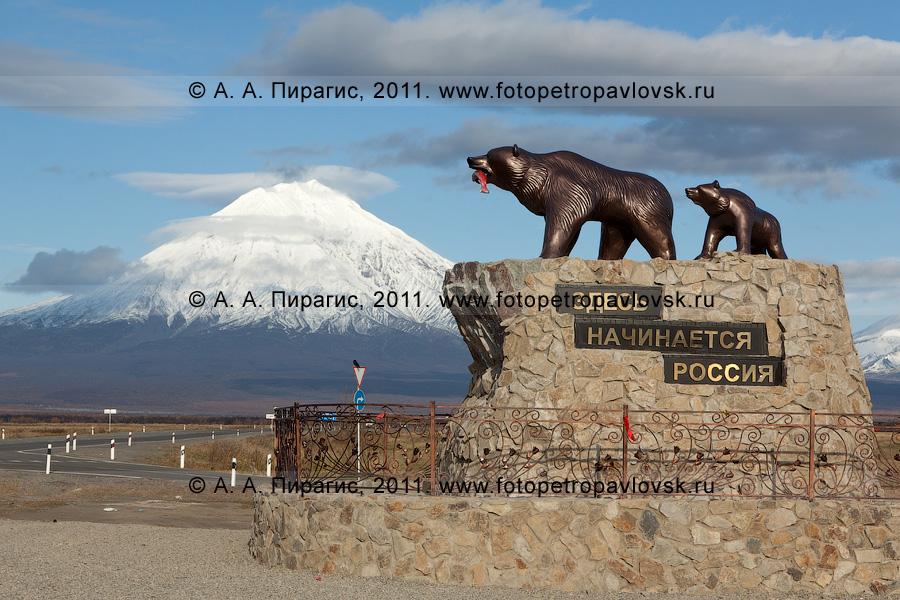 Камчатка фото памятник медведица с