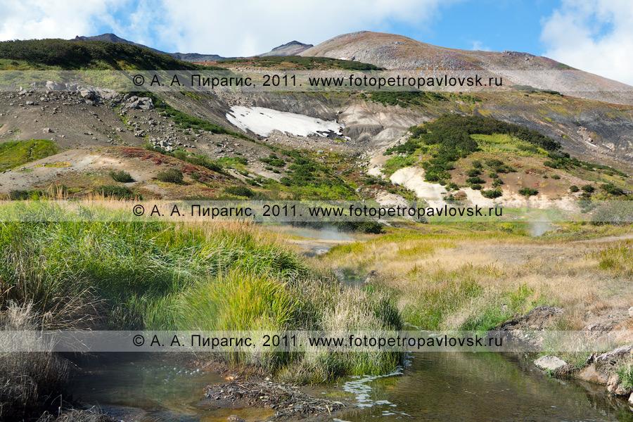 Фотография: Дачные термальные источники на Камчатке. Вид на Медвежью группу Дачных термальных источников