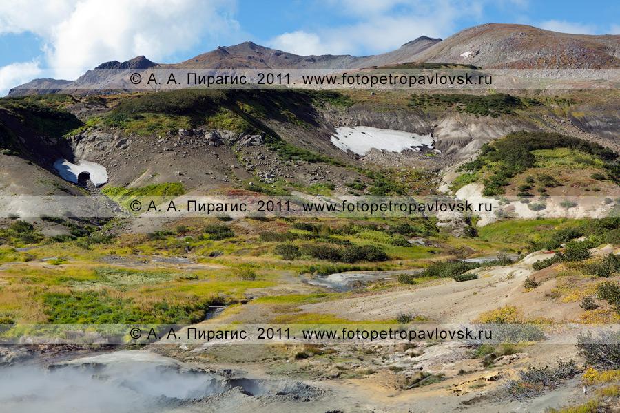 Фотография: камчатский пейзаж — Дачные термальные источники на Камчатке. Медвежья группа Дачных термальных источников