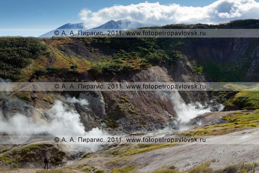 Фотография: малая Долина гейзеров — Дачные термальные источники на Камчатке, Активная группа Дачных термальных источников