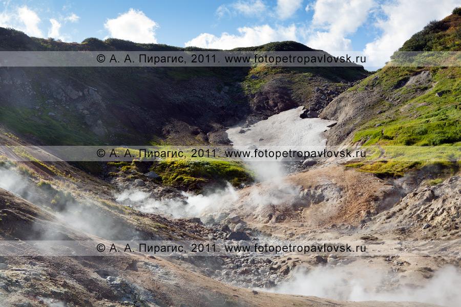 Фотография: Дачные термальные источники на полуострове Камчатка. Котел, или Активная группа Дачных термальных источников