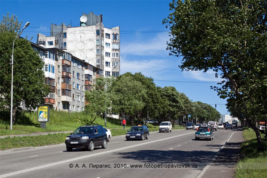 Фотография: девятиэтажное здание на улице Пограничной в городе Петропавловске-Камчатском